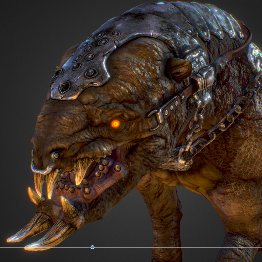 Creature mount Mastodont royalty-free 3d model - Preview no. 40
