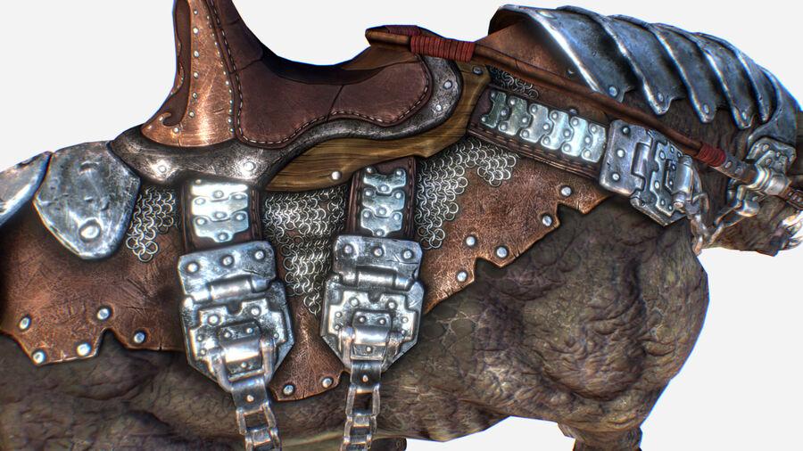 Creature mount Mastodont royalty-free 3d model - Preview no. 11
