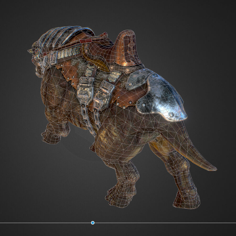 Creature mount Mastodont royalty-free 3d model - Preview no. 51