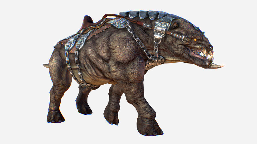 Creature mount Mastodont royalty-free 3d model - Preview no. 3