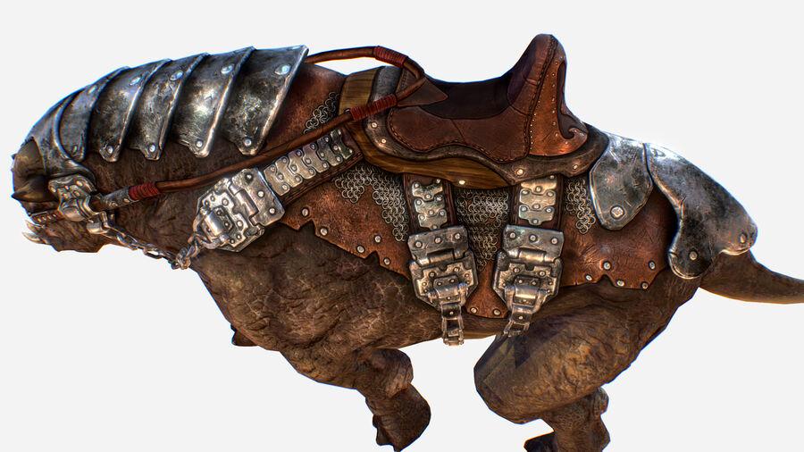 Creature mount Mastodont royalty-free 3d model - Preview no. 25