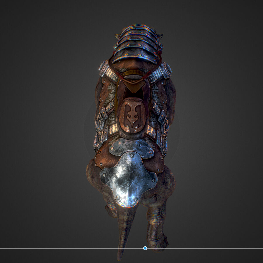 Creature mount Mastodont royalty-free 3d model - Preview no. 35