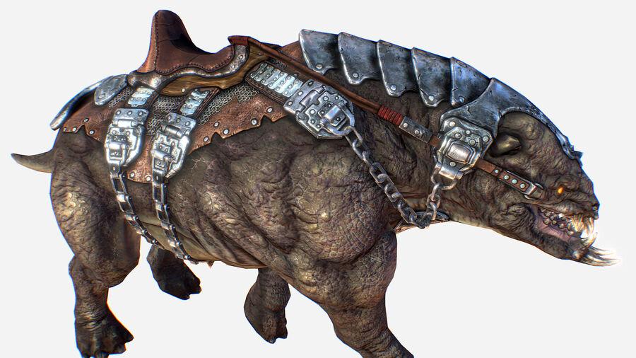 Creature mount Mastodont royalty-free 3d model - Preview no. 27
