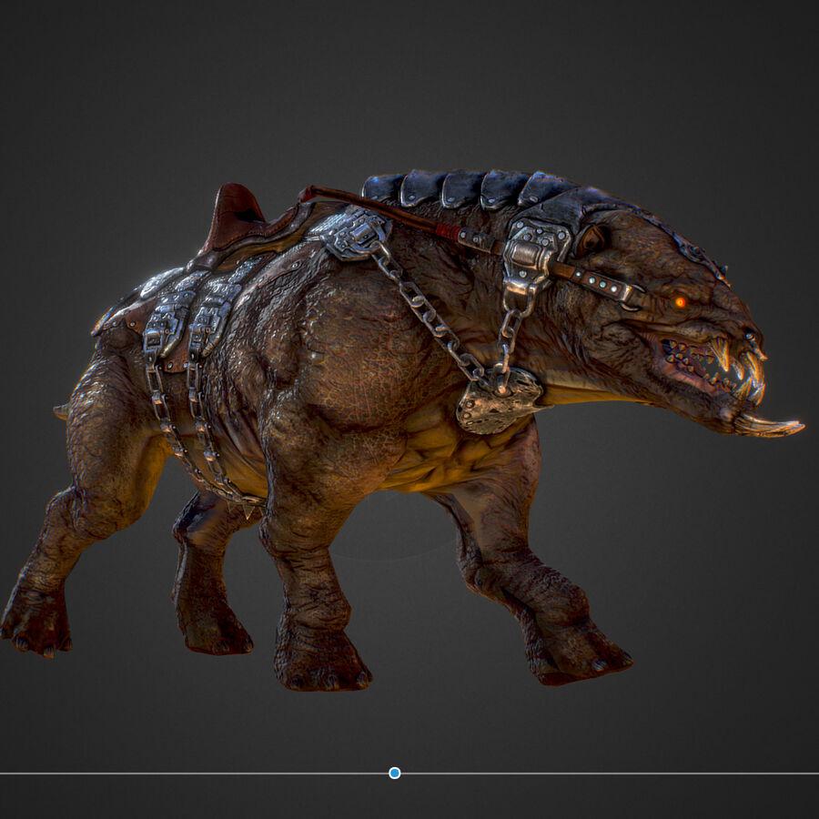 Creature mount Mastodont royalty-free 3d model - Preview no. 31
