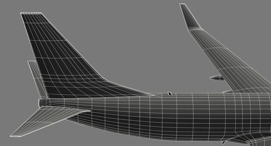 Boeing 737800 EgyptAir royalty-free modelo 3d - Preview no. 22