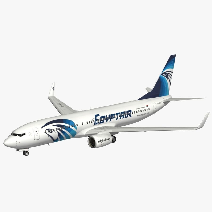 Boeing 737800 EgyptAir royalty-free modelo 3d - Preview no. 1