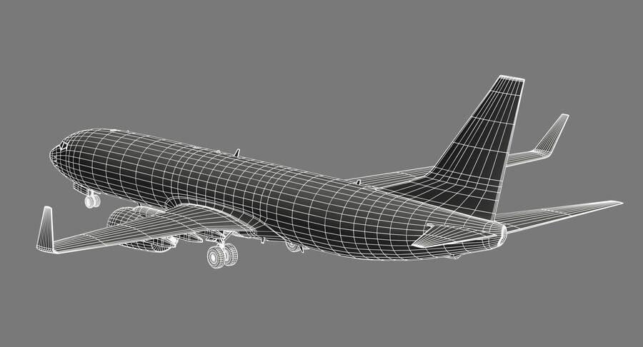 Boeing 737800 EgyptAir royalty-free modelo 3d - Preview no. 16