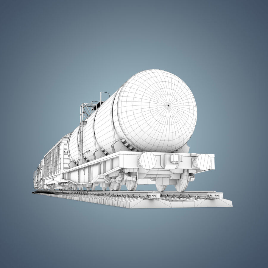 Treno merci royalty-free 3d model - Preview no. 29