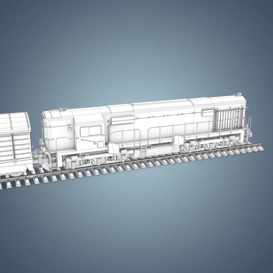 Treno merci royalty-free 3d model - Preview no. 22
