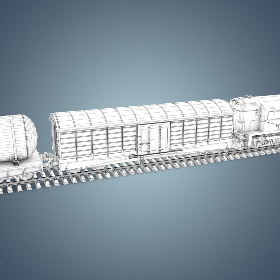 Treno merci royalty-free 3d model - Preview no. 21