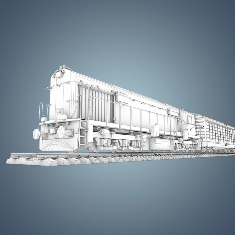 Treno merci royalty-free 3d model - Preview no. 27