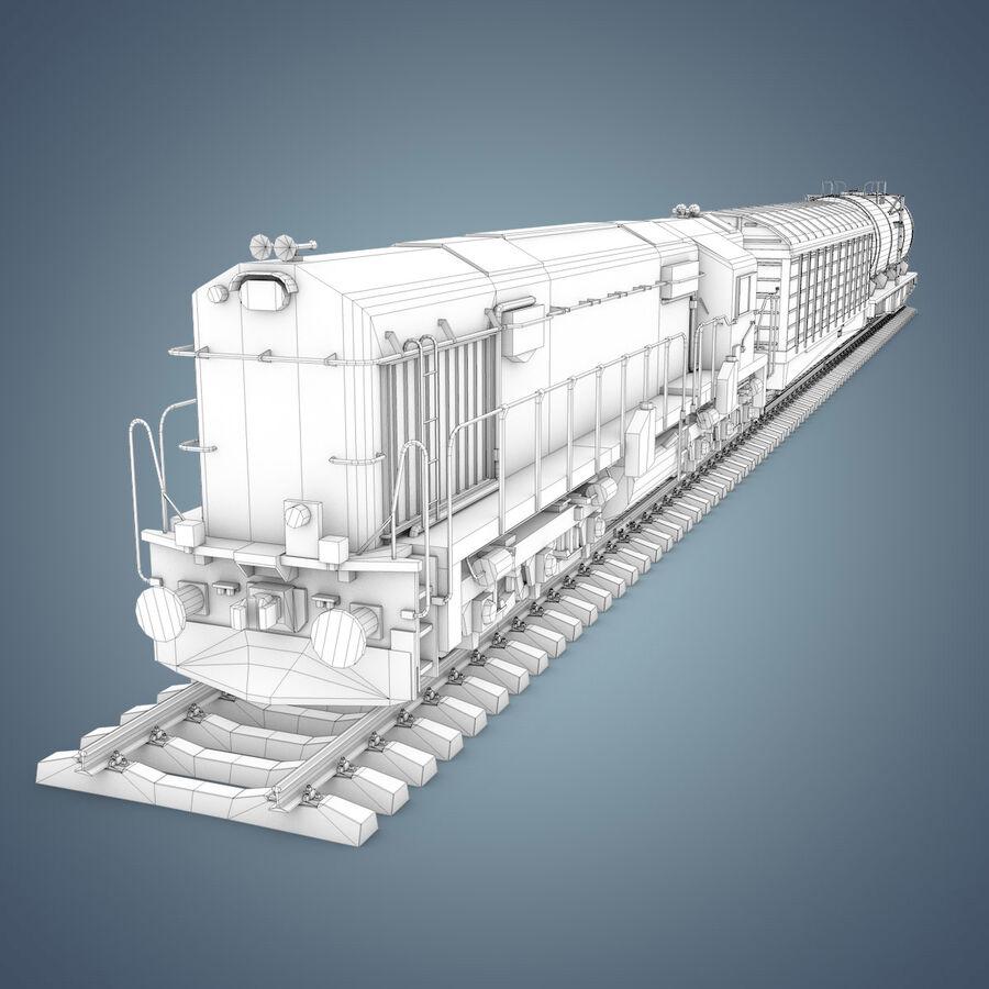 Treno merci royalty-free 3d model - Preview no. 18
