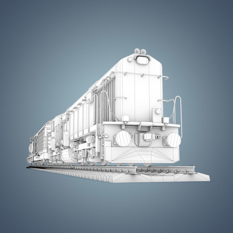 Treno merci royalty-free 3d model - Preview no. 28