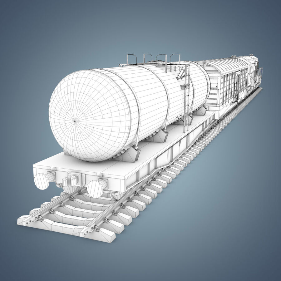 Treno merci royalty-free 3d model - Preview no. 19