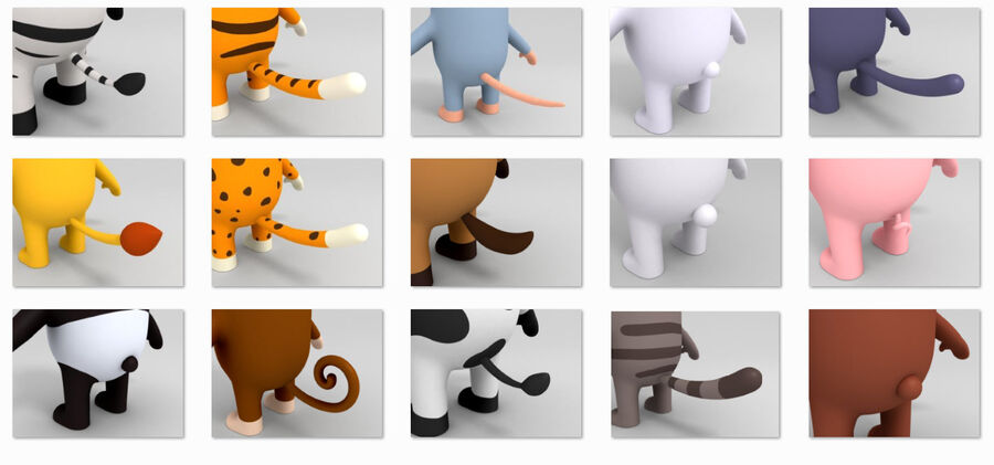 Cartoon Animal Rigged Pack royalty-free 3d model - Preview no. 16