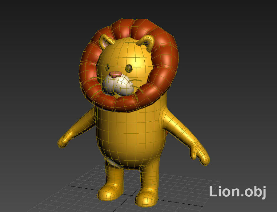 Cartoon Animal Rigged Pack royalty-free 3d model - Preview no. 9
