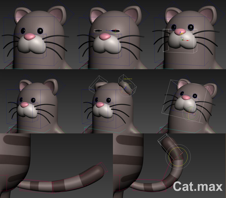 Cartoon Animal Rigged Pack royalty-free 3d model - Preview no. 7