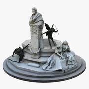 Groupe sculptural Glorieta de Becquer 3d model