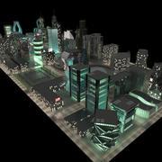 Ночной город 3d model