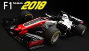 F1 Haas VF-17 2018 년 3d model