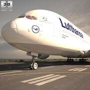 에어 버스 A380 3d model
