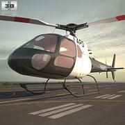 欧洲直升机公司AS350 3d model