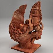 Ly Dynasty Dragon Statue 3d model