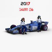 Sauber C36 3d model