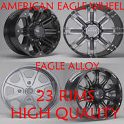 Eagle Alloy Rims Collection 3d model