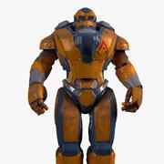 Soldat robot de personnage 3d model
