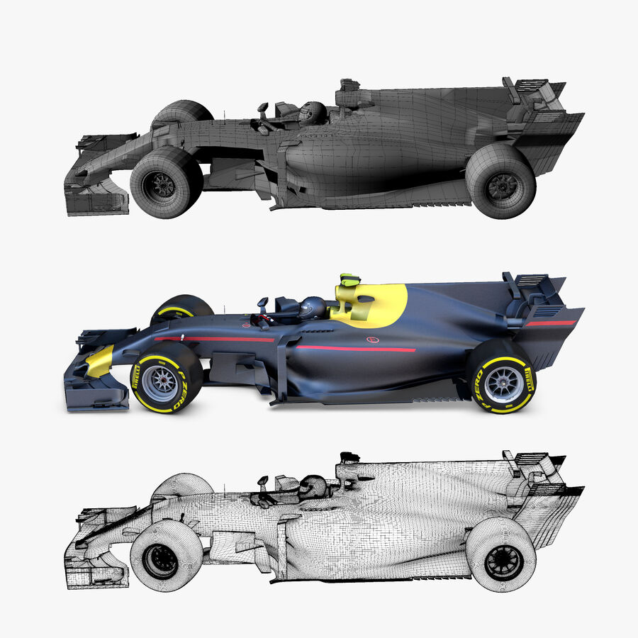 Formel 1-bil 2017 royalty-free 3d model - Preview no. 2