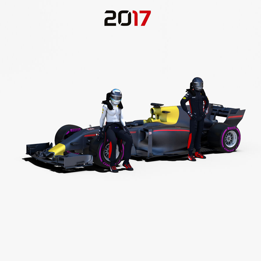 Formel 1-bil 2017 royalty-free 3d model - Preview no. 1