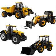 JCB Heavy Vehicle Industrial Collection 4 en 1 3d model