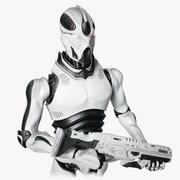 ロボット兵士の概念 3d model