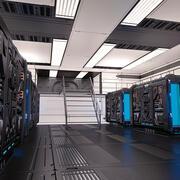 Sala do gerador de ficção científica 02 3d model