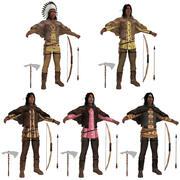 Yerli Amerikalılar PACK N 3d model