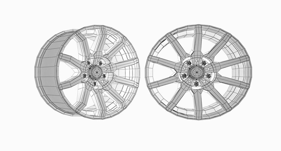 Speedy Wheels Rims Collection royalty-free 3d model - Preview no. 26