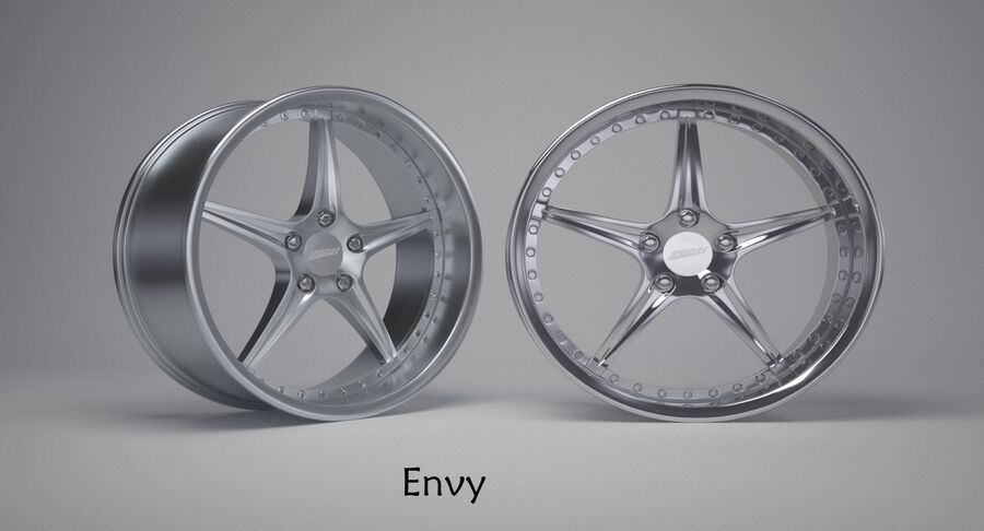 Speedy Wheels Rims Collection royalty-free 3d model - Preview no. 4