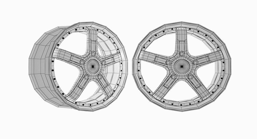 Speedy Wheels Rims Collection royalty-free 3d model - Preview no. 11