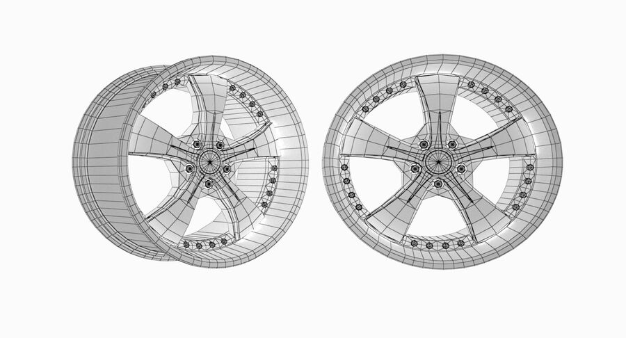 Speedy Wheels Rims Collection royalty-free 3d model - Preview no. 13