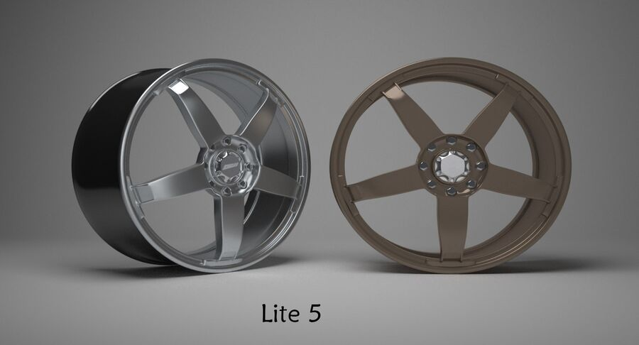 Speedy Wheels Rims Collection royalty-free 3d model - Preview no. 14