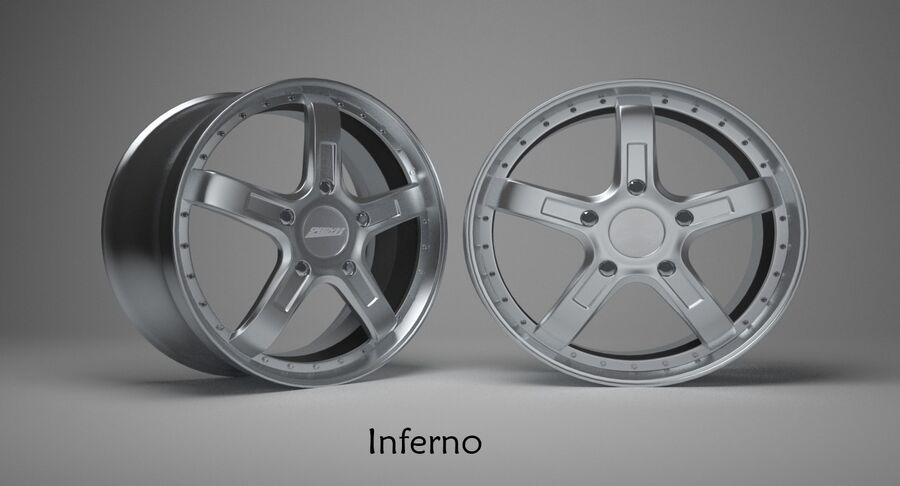 Speedy Wheels Rims Collection royalty-free 3d model - Preview no. 10