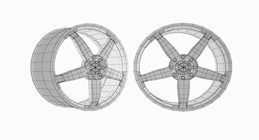 Speedy Wheels Rims Collection royalty-free 3d model - Preview no. 16