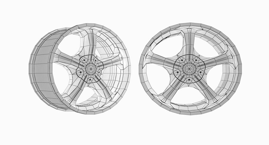 Speedy Wheels Rims Collection royalty-free 3d model - Preview no. 37