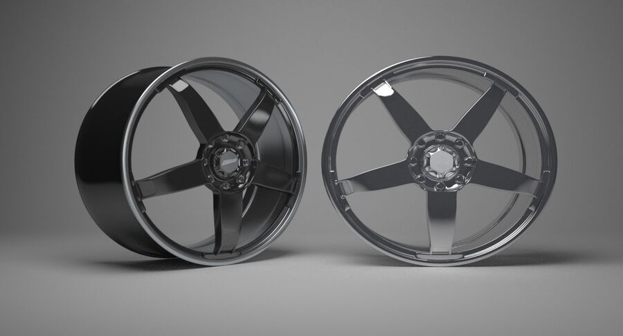 Speedy Wheels Rims Collection royalty-free 3d model - Preview no. 15