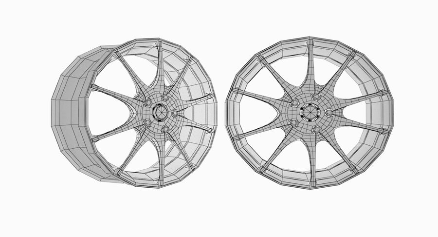 Speedy Wheels Rims Collection royalty-free 3d model - Preview no. 9