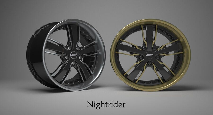 Speedy Wheels Rims Collection royalty-free 3d model - Preview no. 30
