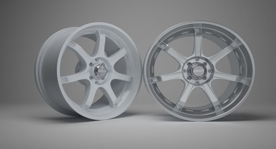 Speedy Wheels Rims Collection royalty-free 3d model - Preview no. 20