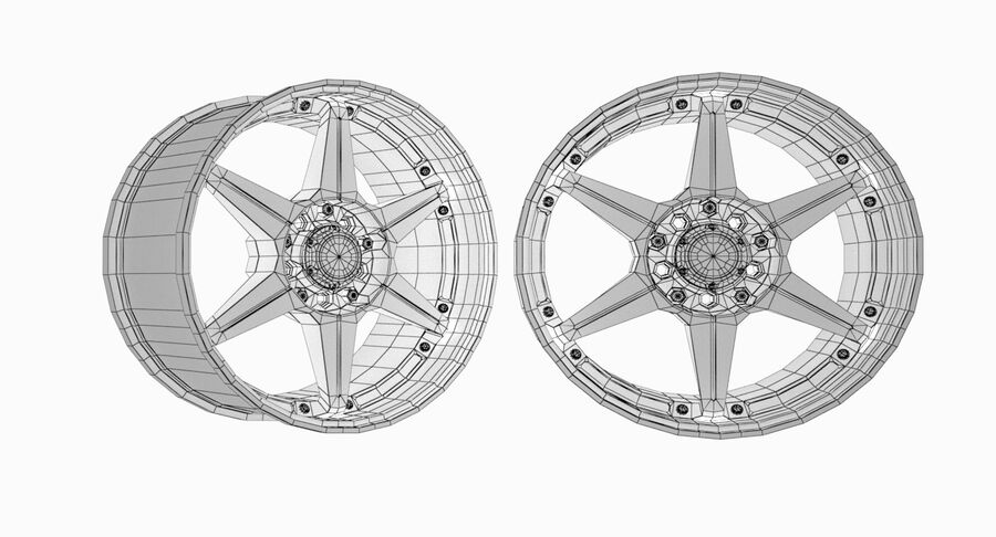 Speedy Wheels Rims Collection royalty-free 3d model - Preview no. 18
