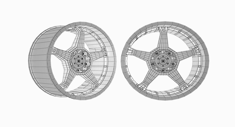 Speedy Wheels Rims Collection royalty-free 3d model - Preview no. 35